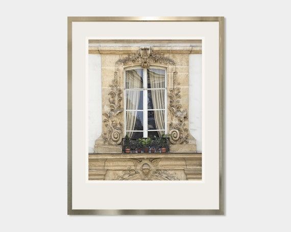 Large Architectural Wall Decor : French wall decor paris window photography large poster