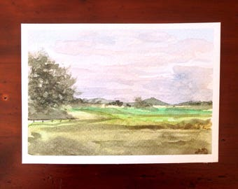 Watercolor Countryside, Small Format Art