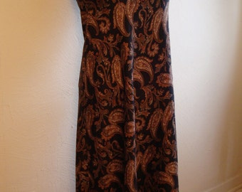 Handmade Bias Cut Silk Paisley Dress