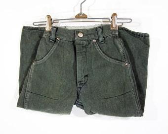 Vintage Denim Pants w/Plaid Flannel Lining (kids) Sz.4T 1960's