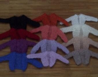 Short cardigan for Pullip, Blythe, Obitsu, Dal, Momoko, Tangkou, 1/6 scale dolls
