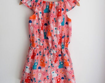 Bunny Rabbit Girls Baby Toddler  Playsuit - Ages 0-10years