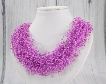 Purple bridesmaid gift/for/sister jewelry Purple jewelry lilac bridesmaid jewelry beaded necklace wedding jewelry bridal jewelry/for/women