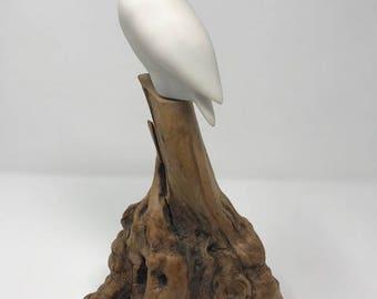 Vintage John Perry Snow Owl Sculpture
