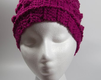 Pink crochet ear warmer headband