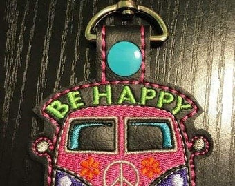 VW Van Key fob embroidery design