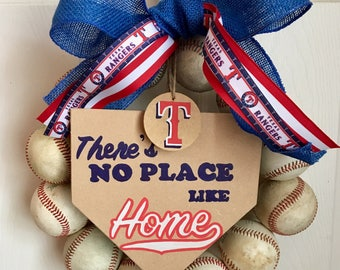 Texas Rangers Bsseball Wreath