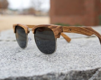 Wood Sunglasses, Zebrawood Wooden Sunglasses, Mens Sunglasses, Wood Eyewear, Sunglasses, Wood, Custom Engraved Wood Glasses, Gift for Him