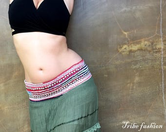Belly dance, tribal belt, gypsy belt, Metal Parts Belt, tribal fusion belt