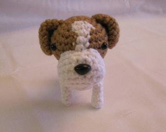 JACK RUSSELL TERRIER - Crochet Amigurumi - Crochet Dog, Crochet Puppy