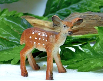 Fawn Figurine Mini Fawn Figurine Baby Deer. Fawn. Resin Deer. Garden Accessory Inside or Outside. Fairy Accessory.