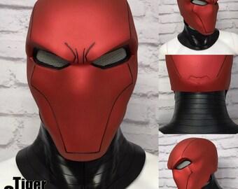 Red Hood helmet (helmet only, neck piece not included) - Matte Hot Metallic Red