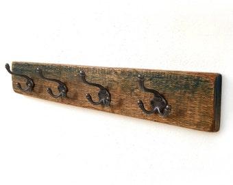Entryway Decor, Wooden coat hanger, Wall Coat hanger, Rustic coat rack, Coat Rack, Towel rack, Wall mounted wooden coat rack, Vintage rack