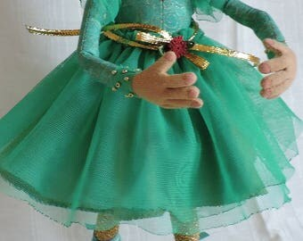 Cloth Art Doll, OOAK, Ballerina
