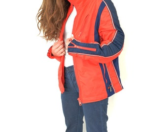 YUGOSLAVIAN Ski Jacket // TOPER Winter Jacket // Made in Yugoslavia // Red & Blue 70s Jacket //