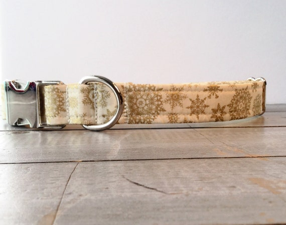 Gold DOG COLLAR, Made to Order, Gold, Gold Sparkle, Classic COLLAR, Gender Neutral, Modern Dog Collar,