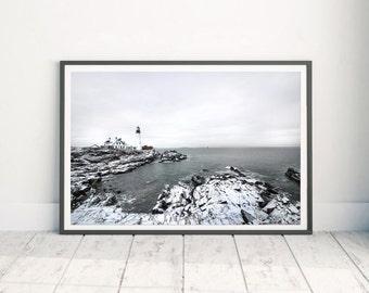 Portland Head Light - Maine Lighthouse - Wall Art Lighthouses - Lighthouse Print - Coastal Wall Print - Cape Elizabeth - Photography