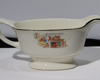 Homer Laughlin Liberty, Colonial Kitchen Pattern, Sauce Boat
