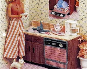 Kitchen Clean Up / Annie's Fashion Doll Plastic Canvas Pattern Club FP16-03