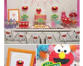 85% OFF | Pink Elmo Birthday | Elmo Birthday Decorations | Sesame Street Party Printable | Elmo Party Printable | Epic Parties by REVO