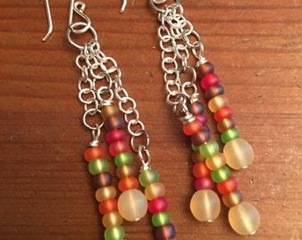Fun Fall Colored Multiple Dangle Earrings