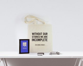 Stadust gift | Neil Gaiman | Stadust bag | Gaiman quote | Library tote | Stardust quote | Literary gift | Book Bag | Bookworm | Writer gift