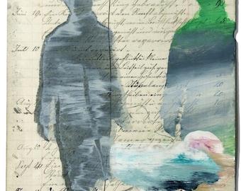 Pessoa (walker). Glicé Ultrachrome based on  Painting  by Juanma Pérez.