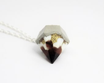 Necklace concrete diamond * magic touched * no 1 - unique - gift -.