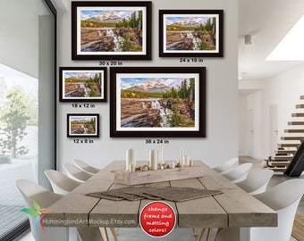 PSD FILE Framed Wall Art Mockup Template Styled Stock Photography 3 To 2