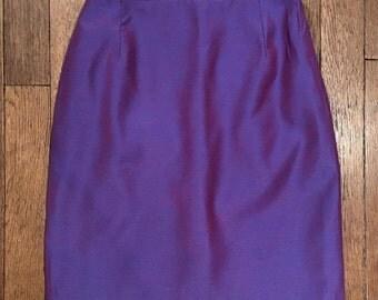 Purple short skirt