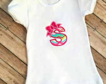 Monogrammed Bow Shirt, Girls Birthday Shirt, Girls Bow Shirt, Personalized Girls Shirt, Letter With Bow Shirt, Girls Initial Shirt