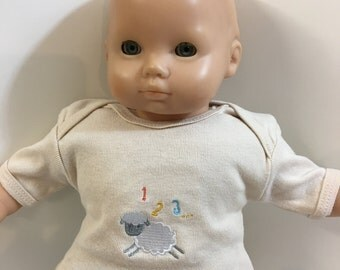 "15 inch Bitty Baby BOY, TOP Only, 1-2-3 Counting Sheep ""Little White LAMB"" Top, 15 inch Bitty Baby Boy/Twin Boy Doll, Top Only- 4.00 Dollars"