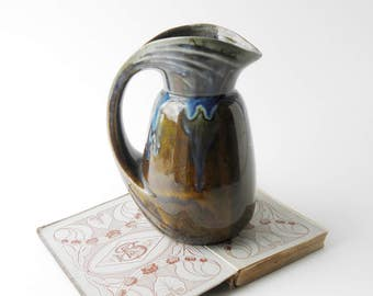 Art Deco Vintage French French DENBAC Pottery Jug //Ceramic Pitcher // Art Nouveau