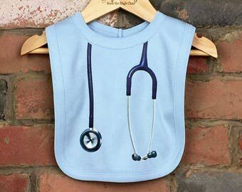 Stethoscope Baby Bibs, Nurse Doctor Baby Gifts, Baby Clothes, Baby Nurse, Baby Birthday Gift, Baby Doctor, Funny Baby Bibs, New Arrival Gift