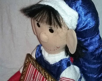 Handcrafted Elf Doll Holding Picture