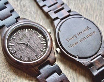 Wood Watch FREE Engraving, Wooden Watch, Gift for Him, Mens Wood Watch, Wooden Watches, Wedding Gift, Mens Watch, Wood Watch, Groomsmen Gift