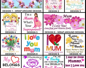 Personalised Mother's Day Mug - Ceramic Coffee Mug - With any Name or Message - Gift Idea - Mum, Mummy, Grandma, Nanny