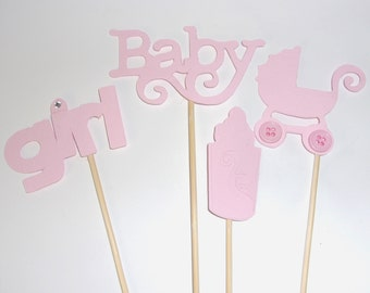 Pink Baby Girl Centerpiece, Baby Shower Centerpieces, Baby Girl Decoration, Pink Baby Girl Decor, Baby Party Centerpiece, Baby Girl, Pink