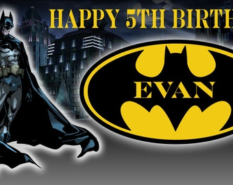 Birthday banner Personalized 4ft x 2 ft Batman