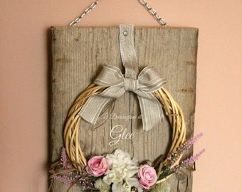 Spring Rose Garland plaque