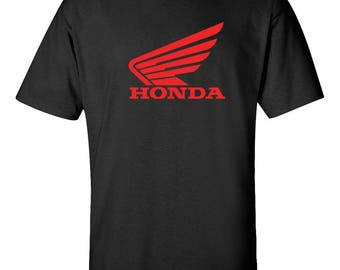 HONDA WINGS Racing Graphic Tee  100% Screen Printed  ***Free Shipping***