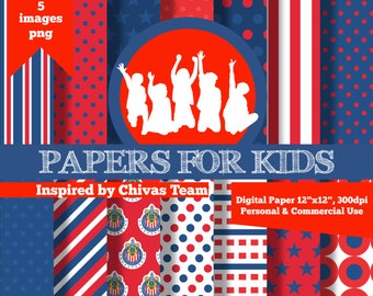Chivas background etsy digital papers chivas soccer boys football invitation background birthday voltagebd Images