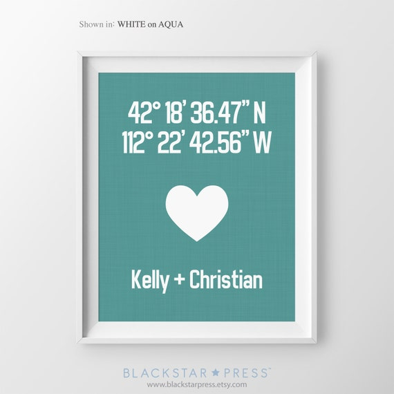 Housewarming Gift For Couple Personalized Anniversary Gift