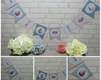 Nautical Boat Bunting Garland Banner  Birthday,Party,Decoration,Baby
