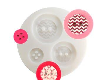 Mini Mold silicone buttons geometric