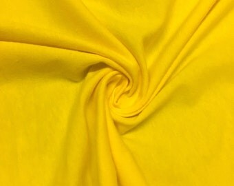 "Yellow Cotton Jersey Lycra Spandex Knit Stretch Fabric 58/60"" wide All colors"