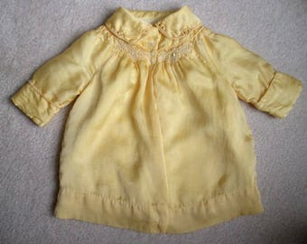 Vintage 1940s Silk BABY CHILD COAT Jacket Smocked Pearl Buttons