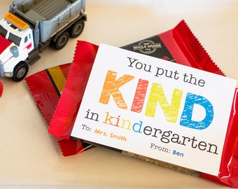 Teacher Appreciation: You put the KIND in KINDergarten tag *INSTANT DOWNLOAD*