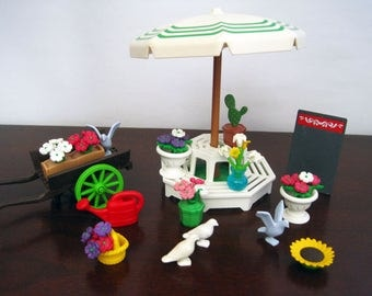 Playmobil Flower Market Stand #5343 – Incomplete Vintage Geobra Playmobil Victorian Theme