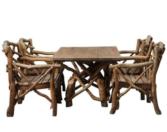 "Set of Rustic 1930s ""Twig"" Furniture"